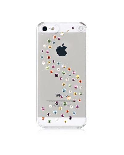Swarovski Milky Way Cotton Candy за iPhone 5 -  кейс с кристали на Сваровски за iPhone 5 - 1