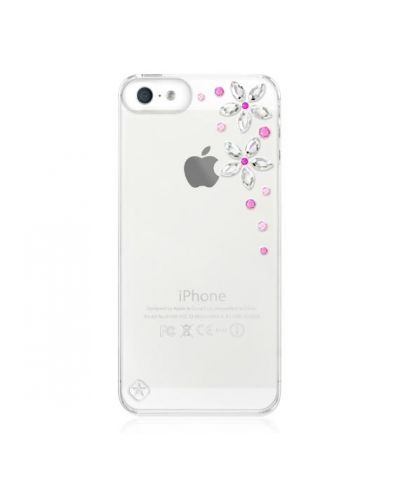 Swarovski Flower Pink Mix за iPhone 5 - 1