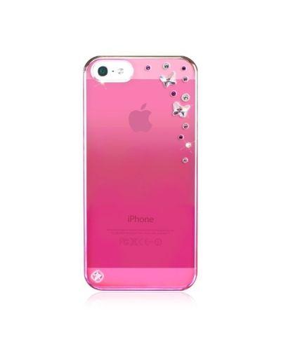Swarovski Butterflies Mirror за iPhone 5 -  розов - 1