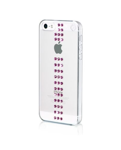Swarovski Stripe Fuchsia за iPhone 5 - 2