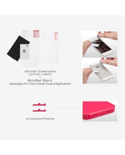 SwitchEasy Nude за iPhone 5 -  червен - 5
