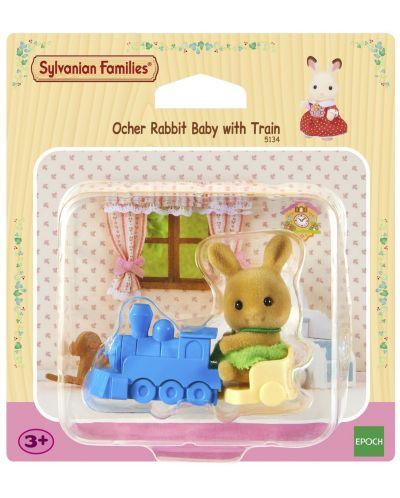 Комплект фигурки Sylvanian Families - Бебе зайче, с влакче - 3