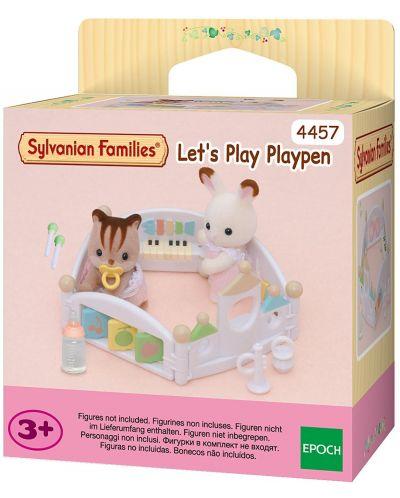 Фигурка за игра Sylvanian Families - Бебешка кошарка - 1