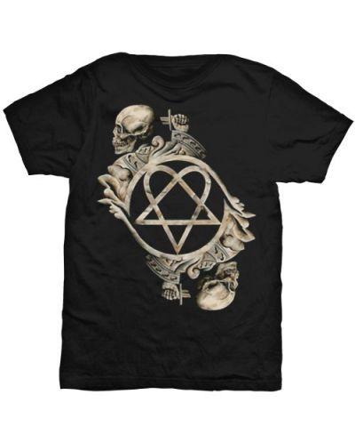 Тениска Rock Off HIM - Bone Sculpture - 1