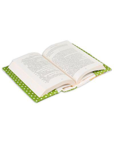 Текстилна подвързия за книга Портокал (зелен фон) - 8