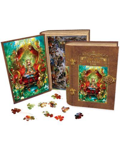 Пъзел в кутия-книга Master Pieces от 1000 части - Алиса в Страната на чудесата, чаено парти - 2