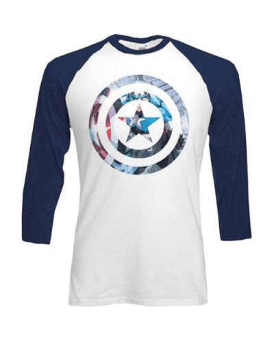 Тениска Rock Off Marvel Comics - Captain America Shield Block - 1
