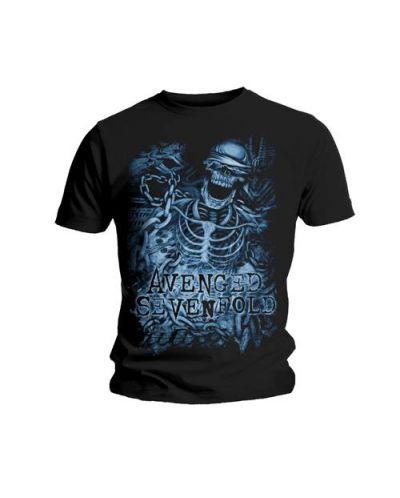 Тениска Rock Off Avenged Sevenfold - Chained Skeleton - 1