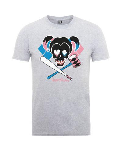 Тениска Rock Off DC Comics - Suicide Squad Harley Skull Emblem - 1