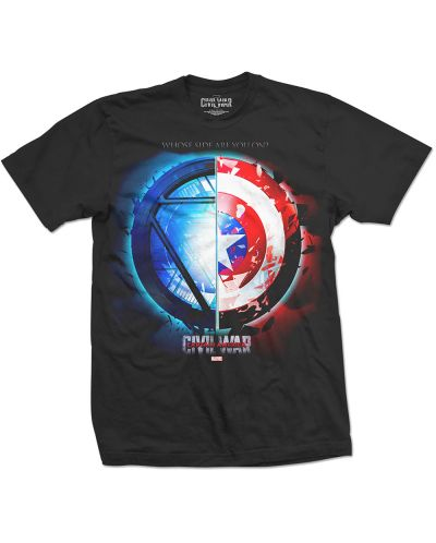 Тениска Rock Off Marvel Comics - Captain America Civil War Whose Side - 1