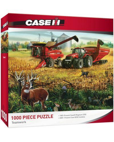 Пъзел Master Pieces от 1000 части - Отборна работа на машини Case IH, Чарлз Фрийтег - 1