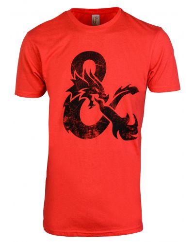 Тениска Rock Me Dungeons & Dragons - Ampersand, M (червена) - 1