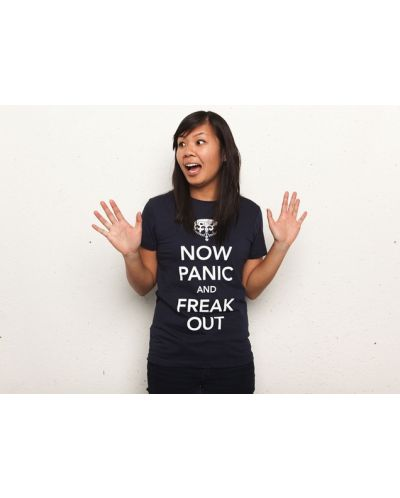 Threadless Now Panic and Freak Out - дамска L - 3