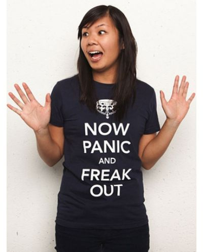 Threadless Now Panic and Freak Out - дамска L - 1
