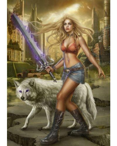 Пъзел Grafika от 1000 части - Мечът на вълка, Крис Ортега - 1