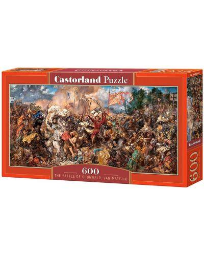 Панорамен пъзел Castorland от 600 части - Битката при Таненберг, Ян Матейко - 1
