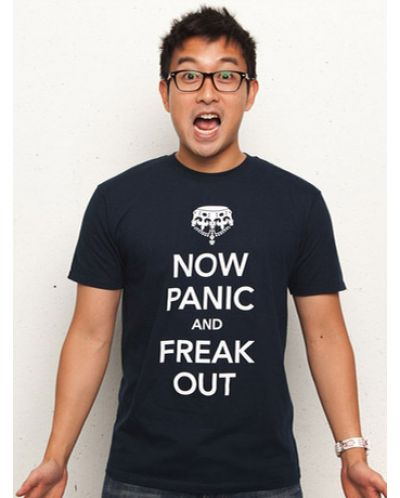 Threadless Now Panic and Freak Out - мъжка L - 1