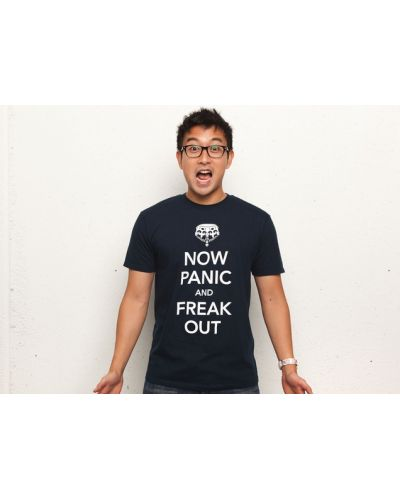 Threadless Now Panic and Freak Out - мъжка L - 3