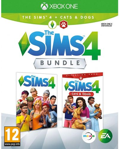 The Sims 4 + Cats & Dogs Expansion Pack Bundle (Xbox One) - 1