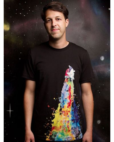 Threadless Space Needs Color - мъжка S - 1