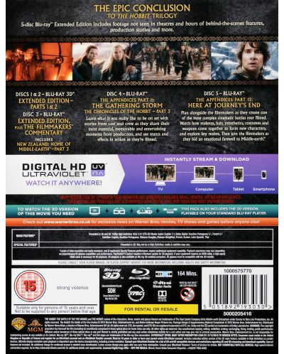 The Hobbit: The Battle Of The Five Armies - Extended Edition - 3D+2D (Blu-Ray) - 4