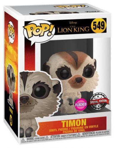 Фигура Funko Pop! Disney: The Lion King - Timon (flocked), #549 - 2