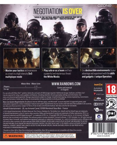 Tom Clancy's Rainbow Six Siege (Xbox One) - 4