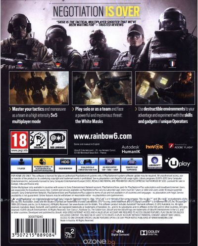 Tom Clancy's Rainbow Six Siege (PS4) - 8