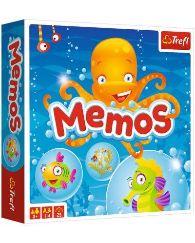 Детска мемо игра Trefl - Морски свят - 1