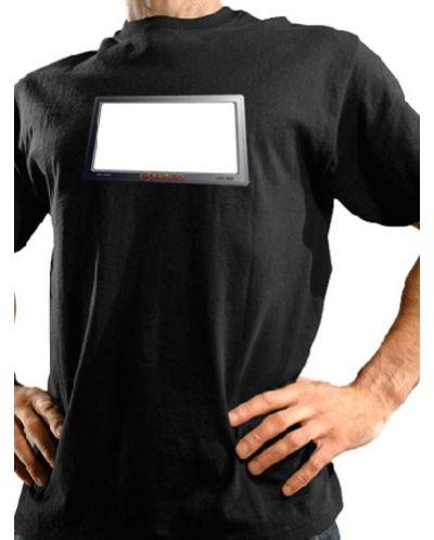 Тениска със светещ надпис - 1