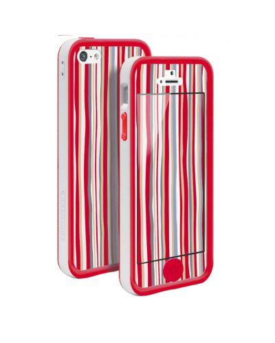 Tunewear Poptune Stripe за iPhone 5 -  червен - 1