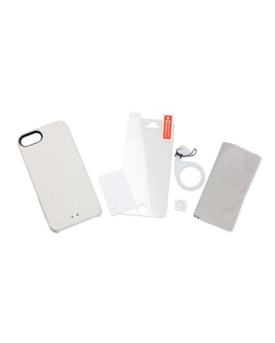 Tunewear Carbonlook за iPhone 5 -  бял - 5