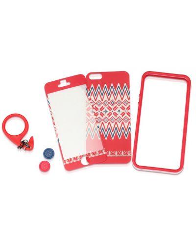 Tunewear Poptune Nordic за iPhone 5 -  червен - 2