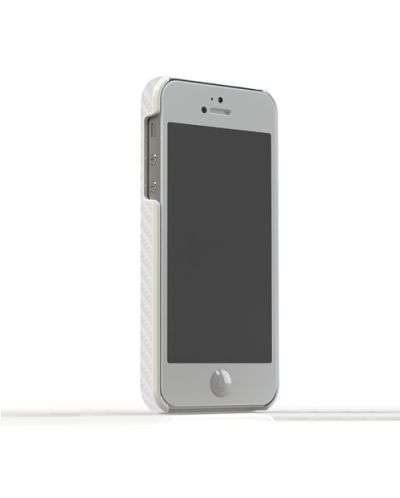 Tunewear Carbonlook за iPhone 5 -  бял - 2