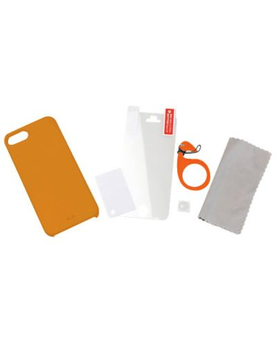 Tunewear Eggshell за iPhone 5 -  оранжев - 4