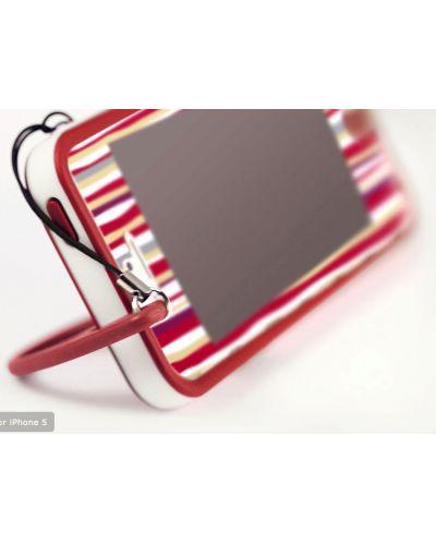 Tunewear Poptune Stripe за iPhone 5 -  червен - 3