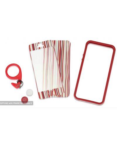 Tunewear Poptune Stripe за iPhone 5 -  червен - 2