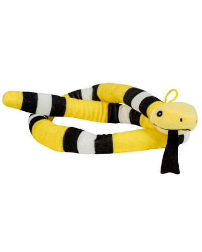 Плюшена играчка Morgenroth Plusch - Жълта змия, 120 cm - 1