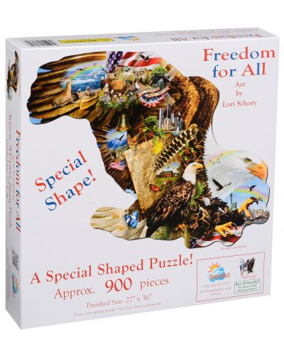 Пъзел SunsOut от 900 части - Свобода за всички, Лори Шори - 2
