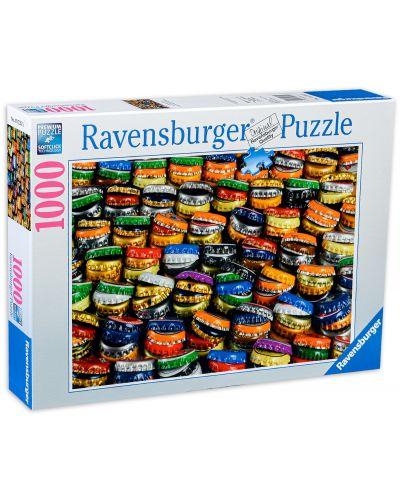 Пъзел Ravensburger от 1000 части - Цветни капачки - 1