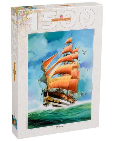 Пъзел Step Puzzle от 1500 части - Плаващ кораб, Луис Бъргайо - 1