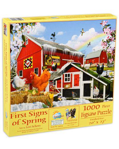 Пъзел SunsOut от 1000 части - Първите знаци на пролетта, Лори Шори - 1