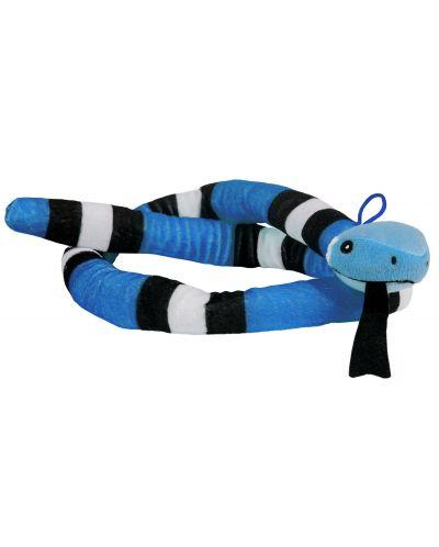 Плюшена играчка Morgenroth Plusch - Синя змия, 120 cm - 1