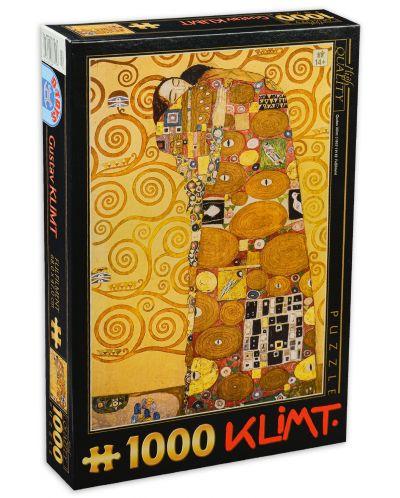 Пъзел D-Toys от 1000 части - Прегръдка, Густав Климт - 1
