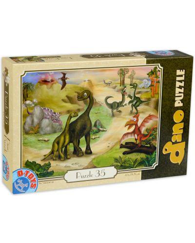 Пъзел D-Toys от 35 части - Динозаври на пътеката - 1