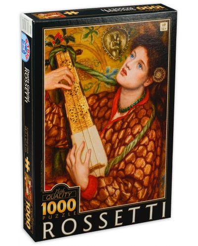 Пъзел D-Toys от 1000 части - Коледна песен, Данте Габриел Росети - 1
