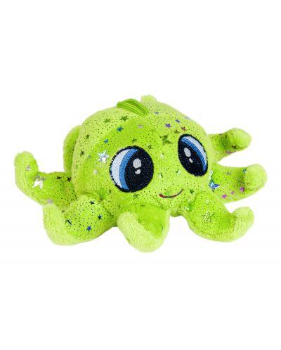 Плюшена играчка Morgenroth Plusch - Зелен октопод, 16 cm - 1