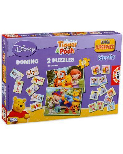 Комплект пъзели и игри Educa identic - Tiger & Pooh - 1