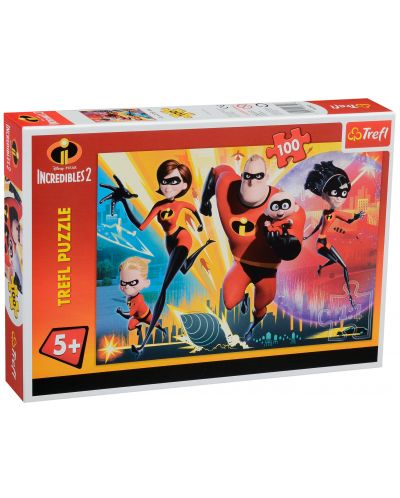 Пъзел Trefl от 100 части - Супергеройско семейство, Incredibles 2 - 2