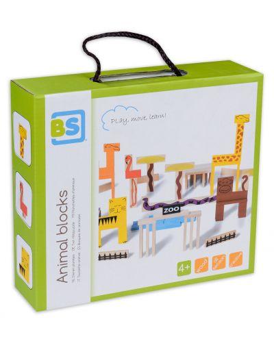 Дървени блокчета BS Toys - Зоопарк, 94 части - 1